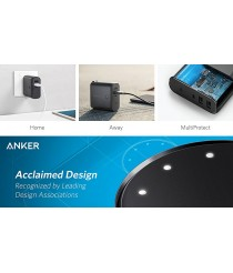 Anker PowerCore Fusion 5000 2-in-1 Portable Charger and Wall Charger, AC Plug with 5000mAh Capacity, PowerIQ Technology, For Apple and Android