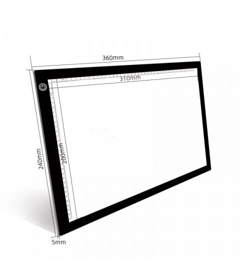 Drawing board LED - A4/A3