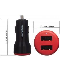 AmazonBasics Dual-Port USB Car Charger  - 4.8 Amp/24W,