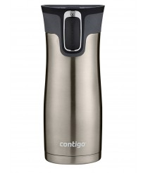 Contigo AUTOSEAL West Loop Vacuum Insulated Stainless Steel Travel Mug with Easy-Clean Lid, 470 milliliters - Silver
