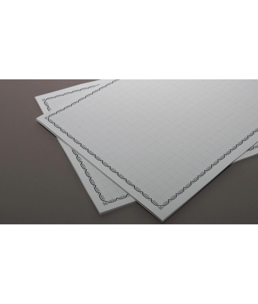 ورق مسطر مربعات مصقول مطفي 25 ورقة مقاس A4