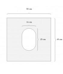 Disposable plastic toilet seat cover