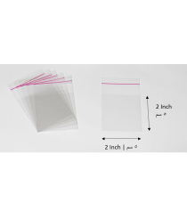 Transparent adhesive bag - 2x2 Inch | 5x5 cm