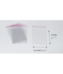 Transparent adhesive bag - 3.5x4 Inch | 9x10 cm