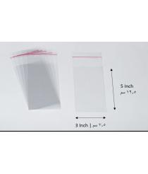 Transparent adhesive bag - 3x5 Inch | 7.5x12.5 cm