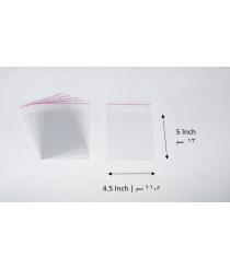 Transparent adhesive bag - 4.5x5 Inch | 11.5x13 cm