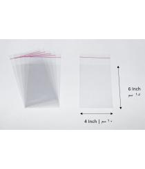 Transparent adhesive bag - 4x6 Inch | 10x15 cm
