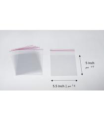 Transparent adhesive bag - 5x5.5 Inch | 13x14 cm