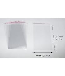 Transparent adhesive bag - 7x11 Inch | 17.5x28 cm