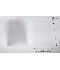 Transparent adhesive bag - 8.5x12 Inch | 21.5x30 cm